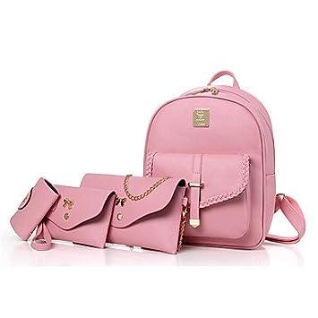 65cd78a36 Bolsa de cuero de la mujer establece otro tipo Casual All Seasons cuchara  metálica beige Zipper LightBlue rubor rosa negro,rubor rosa: Amazon.es:  Deportes y ...