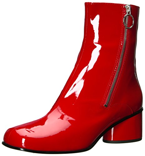 Marc Jacobs Women's Crawford Double Zip Ankle Fashion Boot, Red, 37.5 M EU (7.5 US)