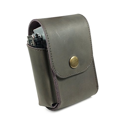 Tuff-Luv Personalised Genuine Western Leather Cigarette/Tobacco/Case with a Belt Loop - Mocca Brown