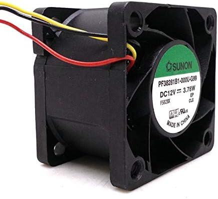 38mm cooling fan Original Sunon PF38281B1-000U-G99 DC12V 3.78W 38x38x28MM 3.8cm 3Lines Tachometer Signal Cooling fan