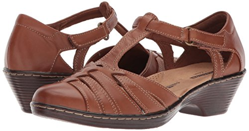 Image of the CLARKS Women's Wendy Alto Fisherman Sandal, tan Leather, 10 Medium US