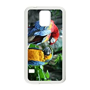 Cute Acutilingual Parrot Hight Quality Plastic Case for Samsung Galaxy S5 by mcsharks