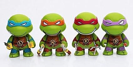 Amazon.com: 4Pcs Cute Teenage Mutant Ninja Turtles Action ...