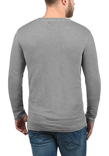 Mid Longues Manches 2842 shirt T À Solid – Them Homme Grey wq8XUF
