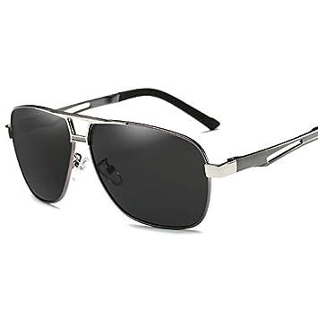 TIANLIANG04 Gafas De Sol Polarizadas Lente Hombres Gafas De Metal De Alta Calidad Perfecta Guía Masculina