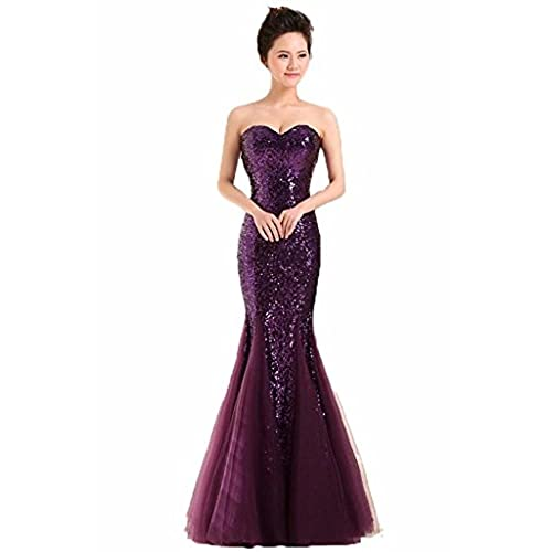 dark purple mermaid dresses amazoncom