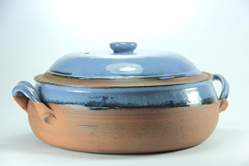 (Ceramic Cooking Pot, Stoneware Casserole Dish, Pottery Casserole, Bake Gift Set, blue Casserole, Cooking Utensil, hand made cooking pot)