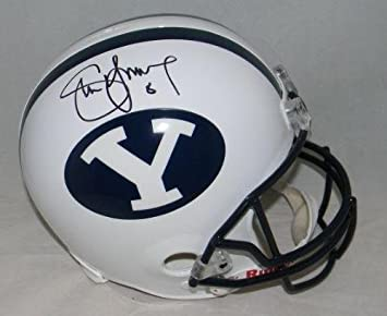 Amazon.com  Steve Young Autographed Signed Byu Cougars Full Size Helmet +  Holo - JSA Certified - Autographed College Helmets  Sports Collectibles a0104589e