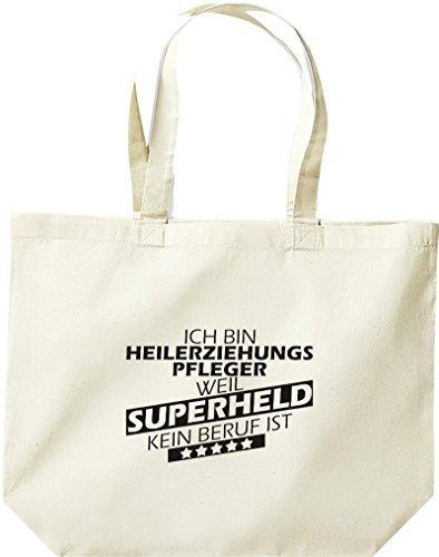 Shirtstown große Bolsa de compra, Estoy Enfermería geriátrica, weil Superheld sin Trabajo ist natural