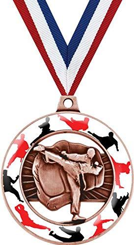 格闘技メダル 2インチ ブロンズ格闘技グロー リムズ メダル賞 プライム B07GHCVPPC  5