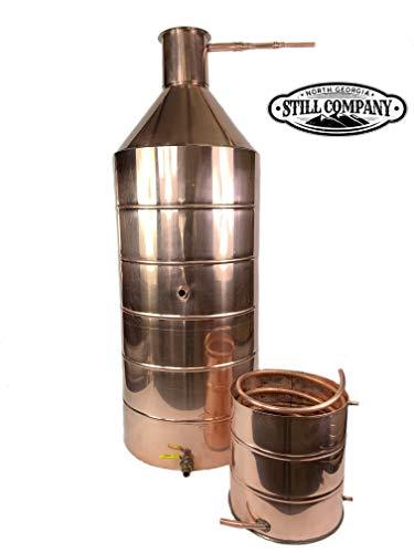North Georgia Still Company 40 Gallon Copper Moonshine Whiskey & Brandy Still with 5 Gallon Worm, 1/2 OD Copper Tubing & Ball Valve Drain Port by North Georgia Still Company price tips cheap