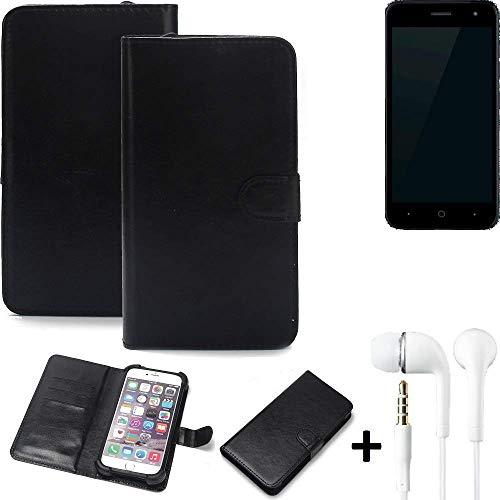 K-S-Trade Wallet Case Handy Hülle Kompatibel Mit ZTE Blade L7A Schutz Hülle Smartphone Flip Cover Flipstyle Tasche…