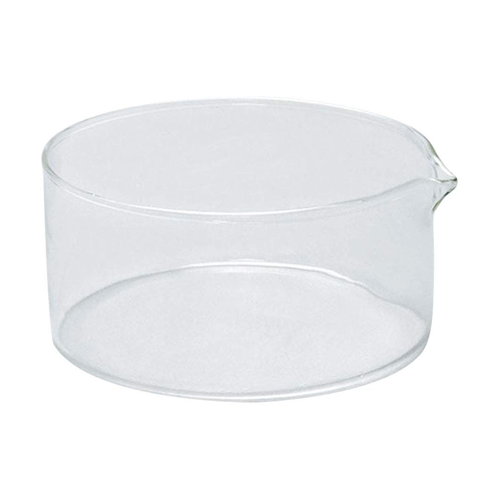 Pack of 1 Adamas-Beta Borosilicate Glass Crystallizing Dish with Spout OD 230mm Heavy Rim