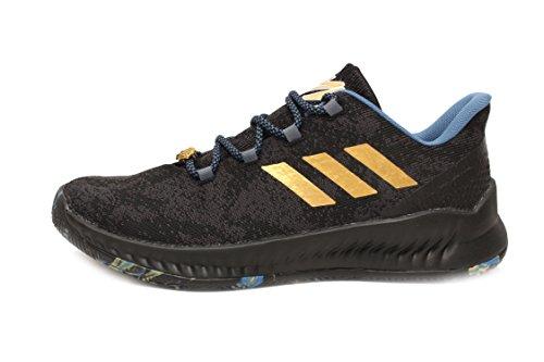 (adidas Harden B/E X MVP Men's Basketball Shoes (11.5, Core Black/Gold Metallic/Steel))