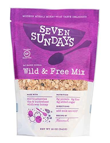 - Seven Sundays Wild & Free Blueberry Chia Muesli Cereal {12 oz. pouch, 1 Count} | Gluten Free Certified | Non GMO | No Refined Sugar | Kosher