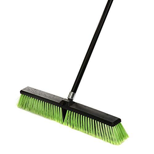 Alpine Industries Multi-Surface Push Broom (24 Inch) (Block Heavy Duty Floor Sweep)