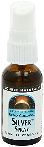 (Source Naturals Ultra Colloidal Silver 10 ppm Fine Mist Spray - Pure, Premium Silver Mineral Supplement - 1 oz)
