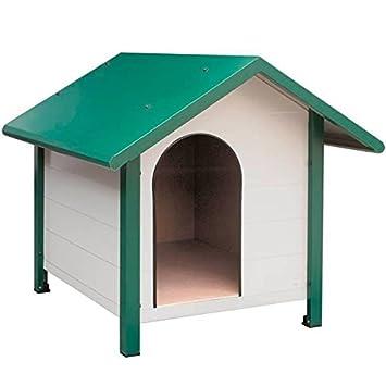 Caseta para Perros galvanizada, lacada Blanca y Verde. Medidas ext. 100x106x101 cm. Medidas INT. 75x89x90 cm. Util para Perros Grandes.: Amazon.es: Jardín