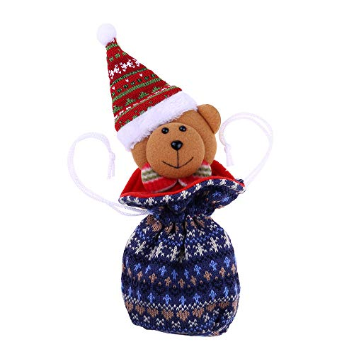 - Rumas Gift Idea 2 In1 Christmas Cartoon Adorable Mini Knit Candy Bags Storage Pouch Organizer Santa Claus Elk Snowman Bear Sweet Bag