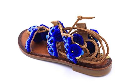 Inuovo - Sandalias de vestir de Piel para mujer cuero