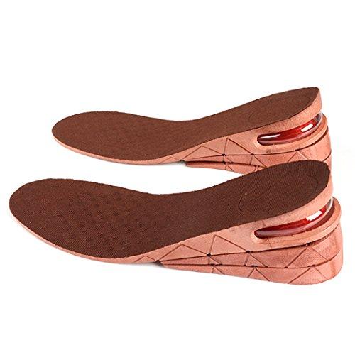 Scarpe di per Solette Sollevamento Scarpe Solette 1 Unisex Inserti Solette Coffee Traspirante del Sollevamento Pad Paio Fascigirl Tallone wSSdrIq