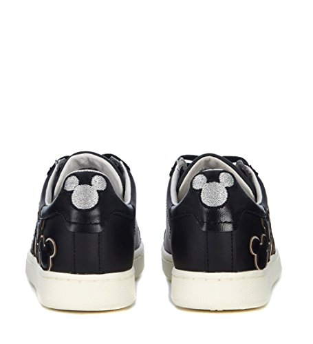 Moa Master Of Arts Donna Moa Mickey Mouse Sneaker In Pelle Nera Nero