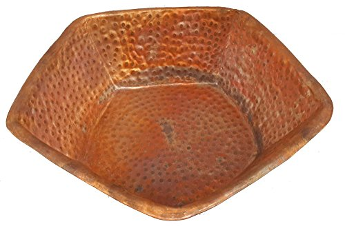 Copper Foot Wash Soaker Pedicure Spa Pentagon Shape Bowl Tub by Egypt (Soaking Feet)