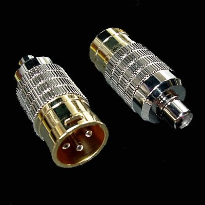 CARDAS AUDIO CGA M CLEAR PREMIUM FEMALE RCA TO MALE XLR ADAPTER - PAIR by CARDAS AUDIO