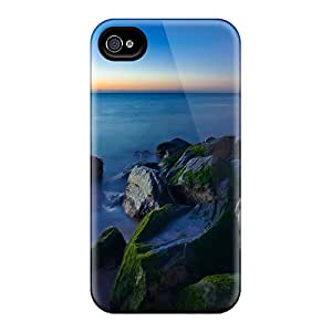 NuXcaiR9080ihVZE Ocean On The Rocks Fashion Tpu 4/4s Case Cover For Iphone