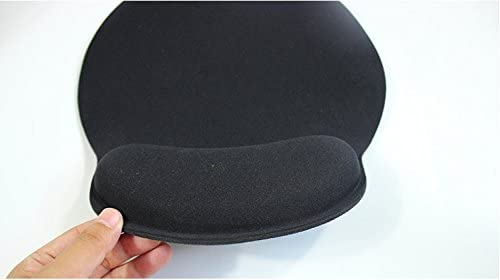 Work Non-Slip Rubber Base Great for Home Xquisite Inks Ergonomic Mouse Pad with Memory Foam Wrist Rest for Support and Comfort and Travel