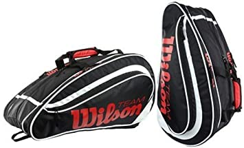 Wilson Padel Team - Raquetero, color negro/blanco/rojo, talla NS: Amazon.es: Deportes y aire libre