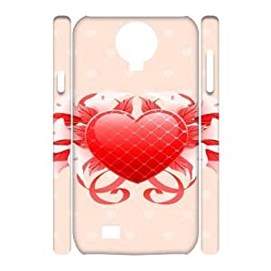 3D Floral Heart Samsung Galaxy S4 Cases, Vety {White}