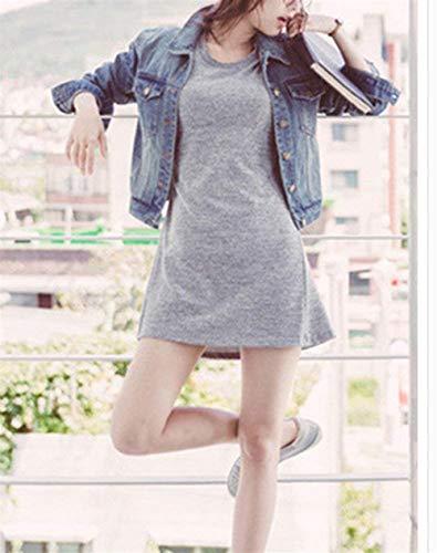 Anteriori Tasche Accogliente Lunga Di Fit Casual Blau Giacche Moda Chic Corto Bavero Elegante Breasted Donna Autunno Giaccone Slim Jeans Single Cute Manica Cappotto gPvRSq