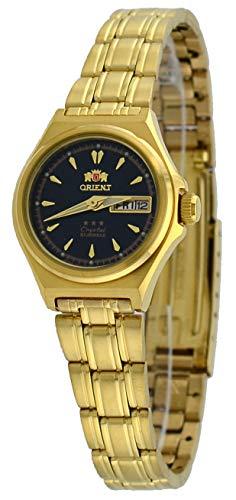 Orient #FNQ1S002B Women's Gold Tone Tri Star Black Dial Automatic ()