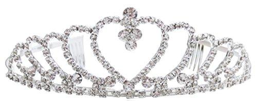 Simplicity Pageant Tiara and Crown Rhinestones Crystal Bridal Wedding, -
