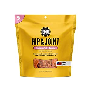 Bixbi Dog Jerky Treat, Hip & Joint, Salmon, 10 Ounce