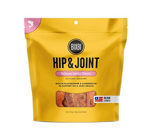 BIXBI Dog Jerky Treat, Hip & Joint, Salmon, 10 ounce by BIXBI