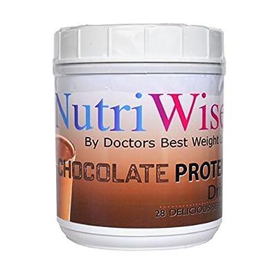 NutriWise - Chocolate Protein Diet Drink, 15g Protein, 80 Calories, 2g Sugar (28/Serv)
