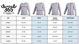 Merino 365 New Zealand 100% Merino Longsleeve Baselayer Shirt with Thumbloops, Large, Black