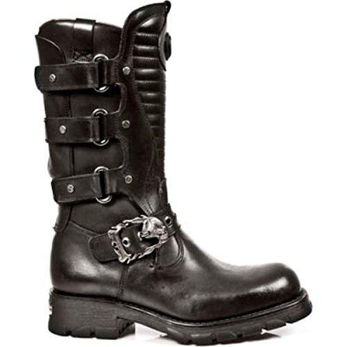 NewRock NEW ROCK 7604 S1 Herren Metallisch Schwarz Gothic Biker Western Metal Stiefel EU 39-46