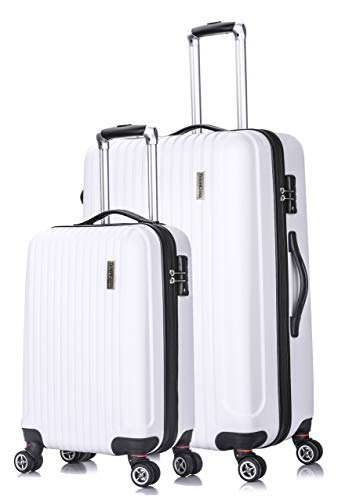 TravelCross Berkeley Classic Luggage Lightweight Spinner Set - White, 2 piece (20''/ -