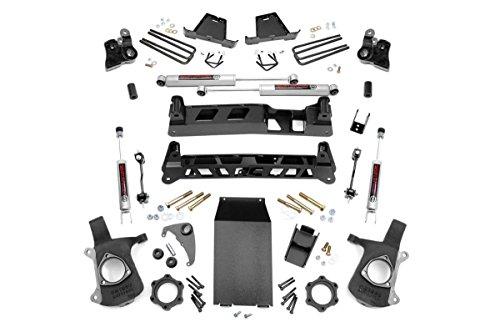 Rough Country - 27220A - 6-inch Non-Torsion Drop Suspension Lift Kit w/Premium N3 Shocks for Chevrolet: 99-06 Silverado 1500 4WD; GMC: 99-06 Sierra 1500 (Non Torsion Drop)