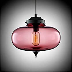 chandelier European retro industrial chandeliers round glass chandeliers creative personality chandelier chandeliers modern chandeliers bar chandeliers, purple