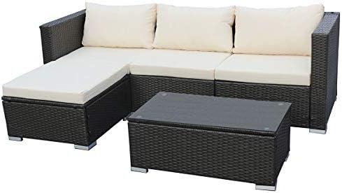 Svita Queens Poly Rattan Sitzgruppe Couch Set Ecksofa Sofa Garnitur Gartenmobel Lounge Grau Schwarz Oder Braun Grau