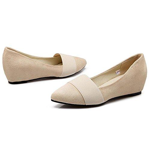 Coolcept Zapatos de Tacon Cuna Para Mujer Beige