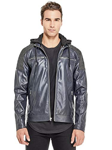 G by GUESS Men's McManus Herringbone-Panel Moto ()