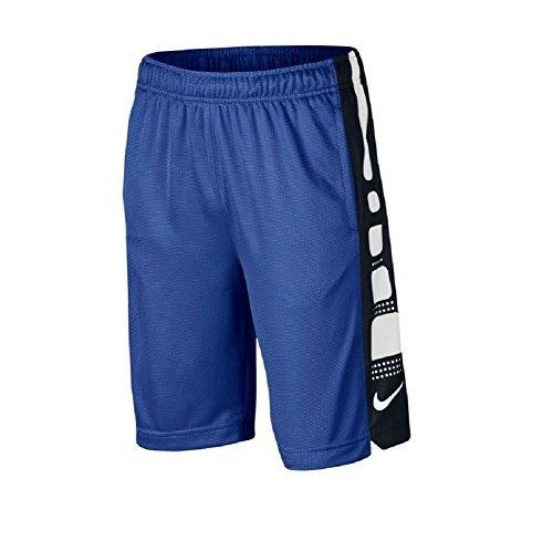 Nike Boy's Dri-Fit 8' Elite Basketball Shorts Game Royal/Black/White 943941-480 (Large)