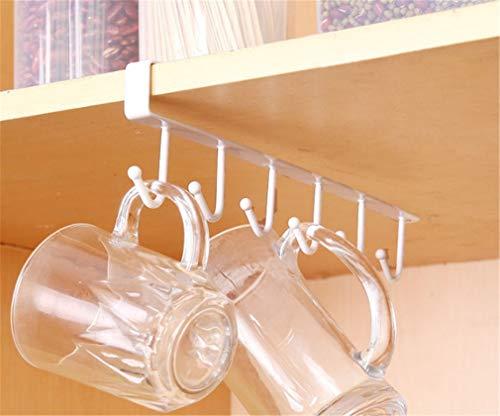 (CHASIROMA Mug Holder Multifunction Nail Free Hook Mug Holder Under Hanger Coffee Cup Holder,Tie Hooks,Keys Hooks for)