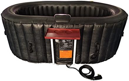 Amazon Com Aleko Htio2bkbk Oval Inflatable Hot Tub Spa With Drink