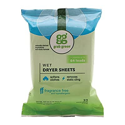 Grab Green Laundry Detergent - Fragrance Free - Case of 6-32 Count